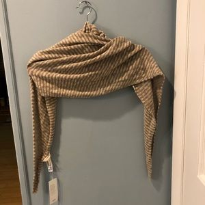 Eileen Fisher natural trapezoid scarf